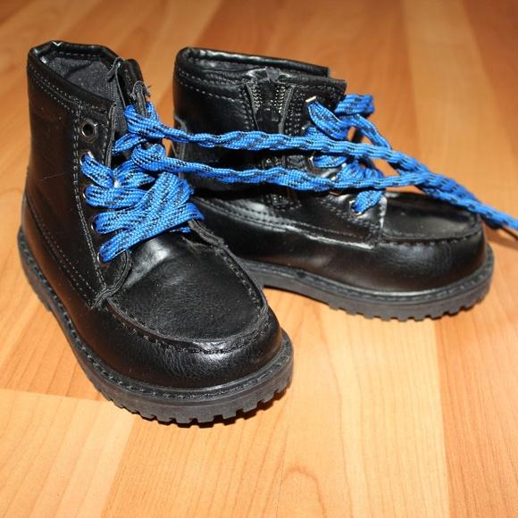 Black Ankle Boots Blue Laces Zip | Poshmark